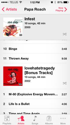iOS 7 Album Artist Annoyance