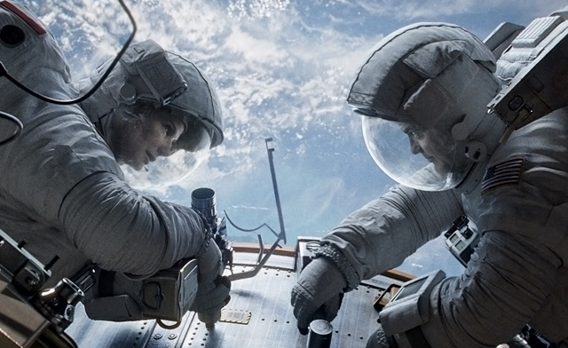 Sandra Bullock and George Clooney - Gravity Movie Review