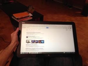 Dell XPS 18 as a Tablet