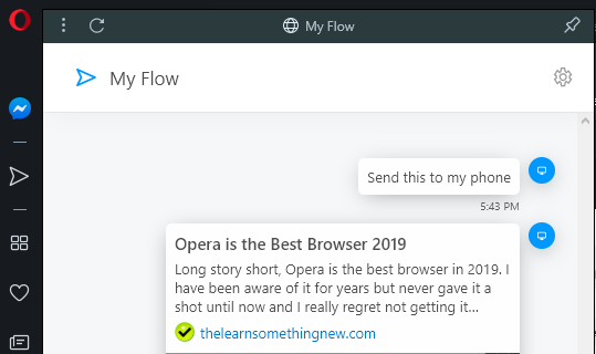 Opera Flow Feature